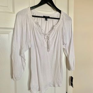 Chaps Loose Blouse with string ties